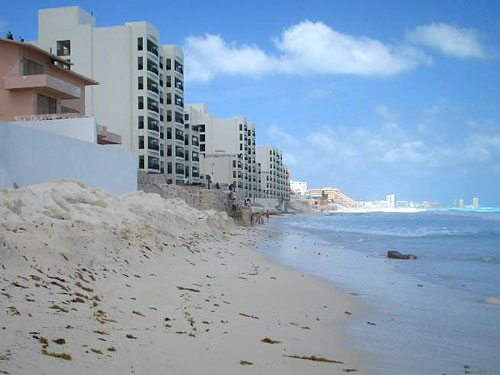 Eroding beaches threaten resort hotels