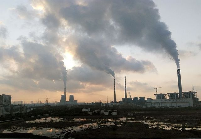Fine particles from power plants can move the weather