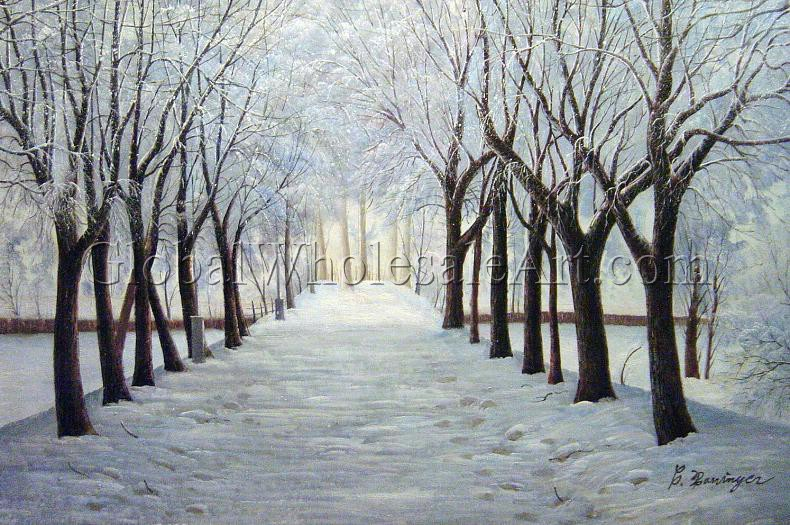 A Winter Wonderland Oil Paintings On Canvas