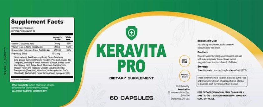 Ingredients Present In Keravita Pro