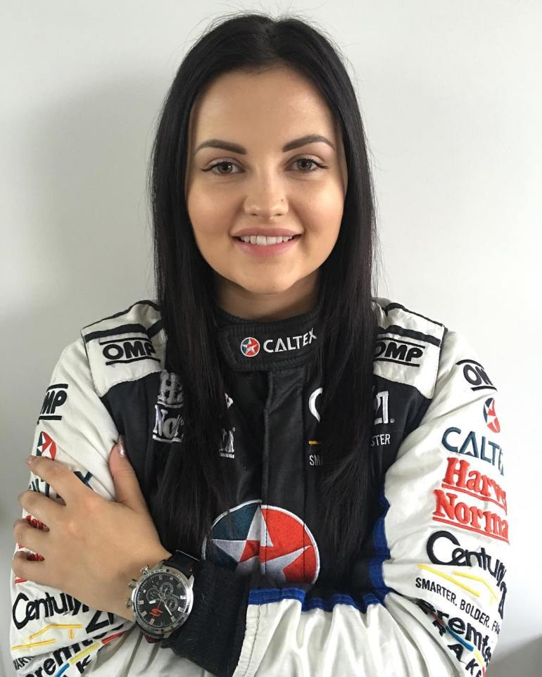 Renee Gracie in Racing Costume