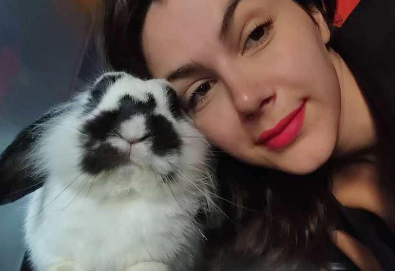 Valentina Nappi With Her Pet