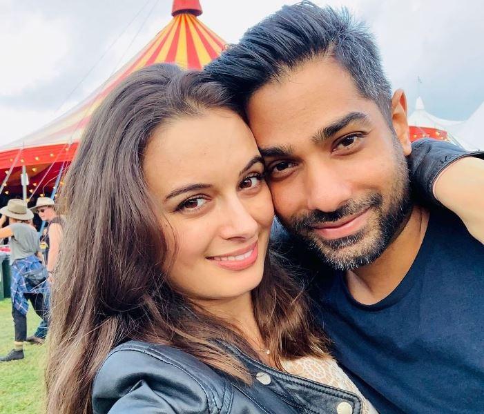 Evelyn Sharma With Her Husband/BoyFriend