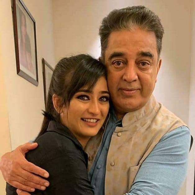 Akshara Haasan With her Father Kamal Haasan