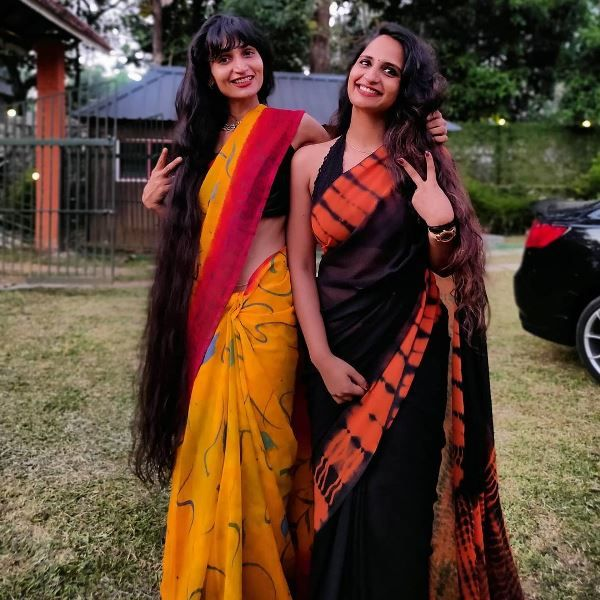 Thinkal Bhal With Her Sister Dimple Bhal