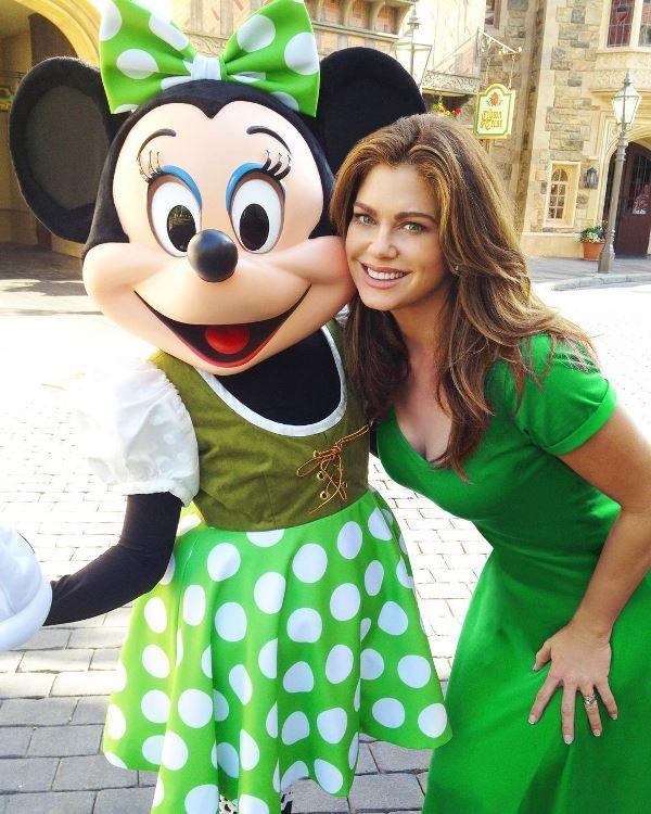Kathy Ireland in Disney Land with Minnie