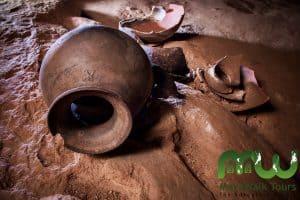 Mayan earthenware remains