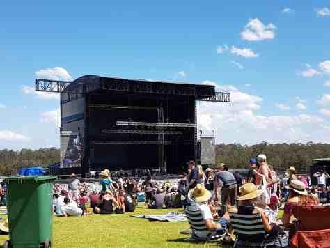 Hunter Valley concert stage on a sunny day