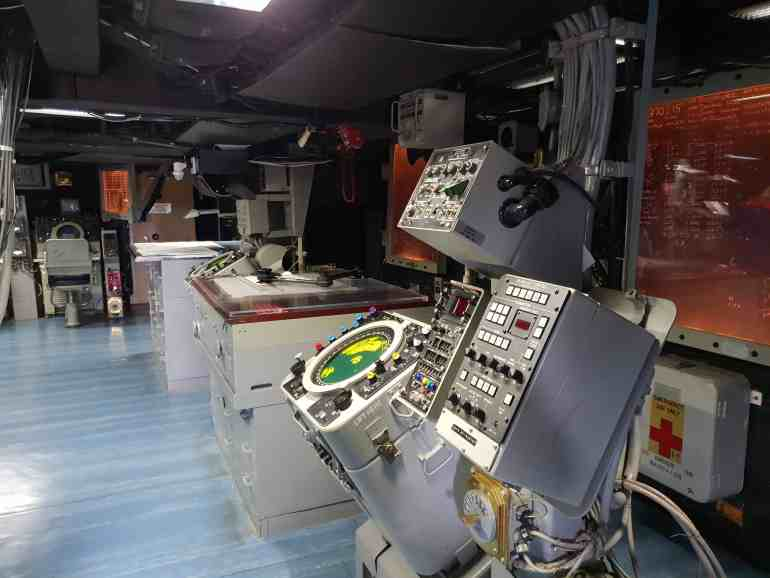The Operations Room on board the USS Missouri at Pearl Harbor