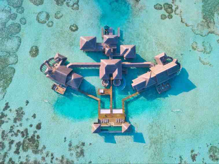 Private reserve at Gili Lankanfushi from a drone by Mar and Cal from Once in a Lifetime Journey