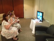 Mario Kart to warm us up for the wedding festivities