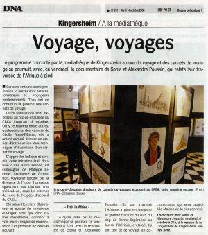 Dernières Nouvelles d'Alsace Kingersheim (67) Octobre 2008