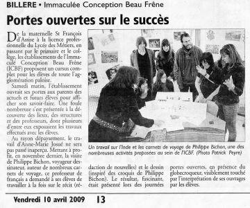 La République des Pyrénées Billère (64) Avril 2009