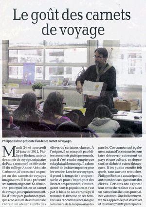 La Dépêche du Midi Carbonne (31) Janvier 2012