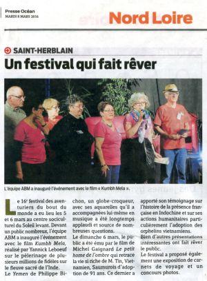 Presse Océan Nantes (44) Mars 2016