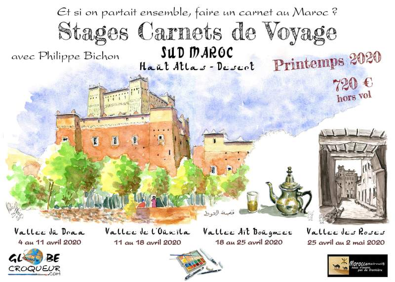 stage carnet de voyage maroc