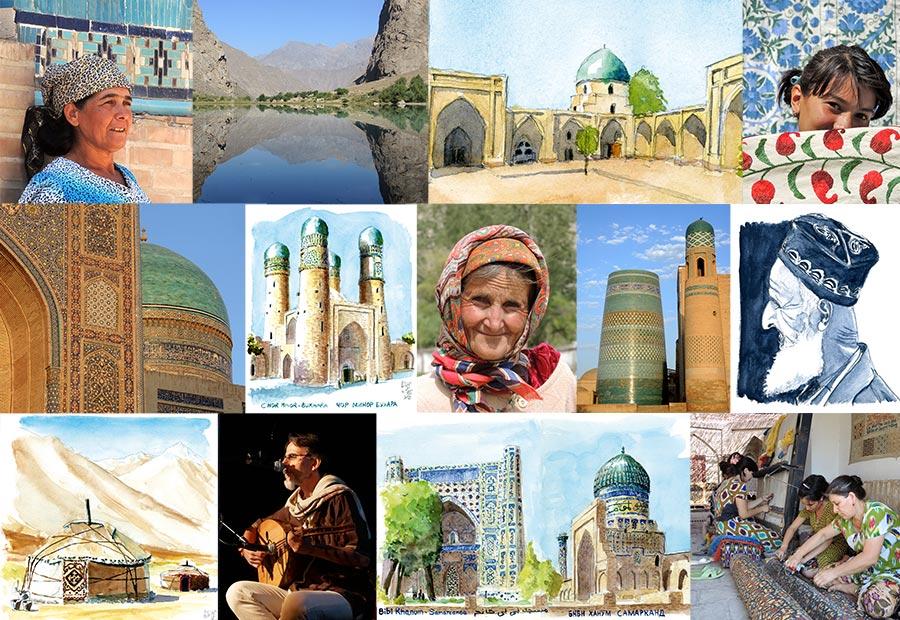 Mosaique diaporamoud Ouzbékistan Tadjikistan