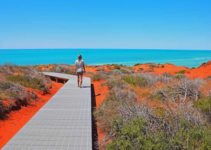 Parc National de François Perron sur la côte ouest de l'Australie road trip