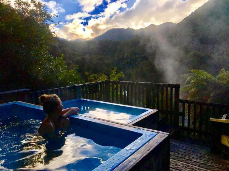 Randonnées en Nouvelle-Zélande, sources d'eau chaude naturelles