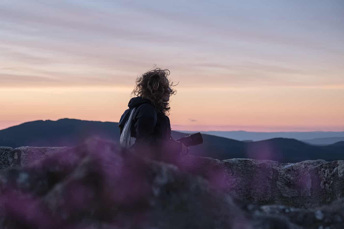 Peyrepertuse au coucher du soleil
