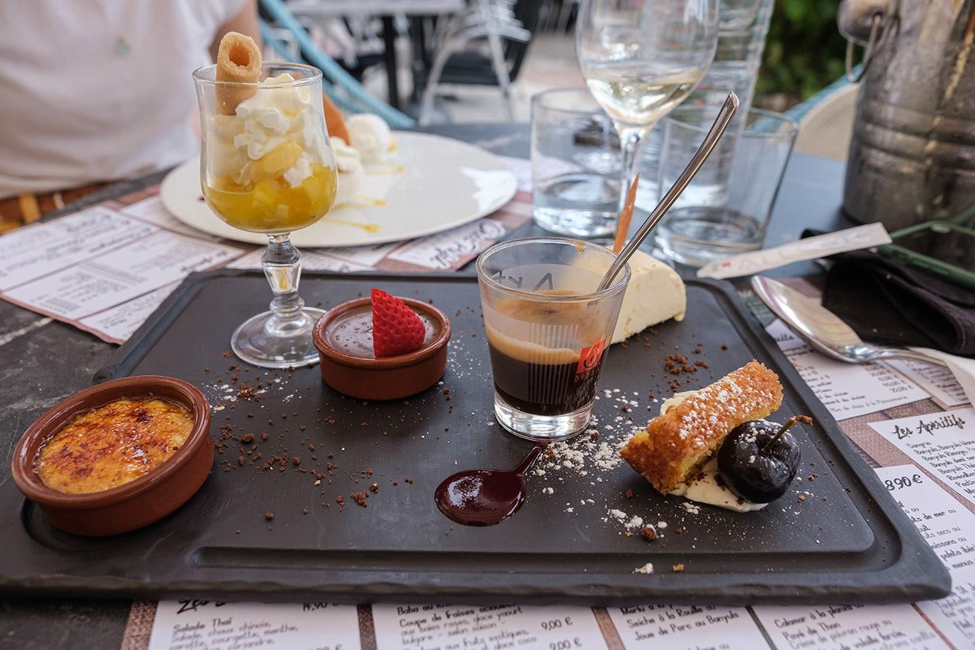 Café gourmand chez Pujol à Port Vendres