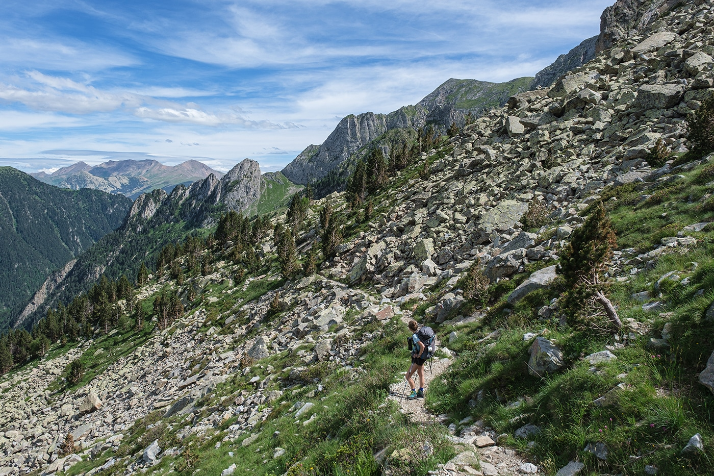 Sentier randonnée pic des Posets depuis Angel Orus