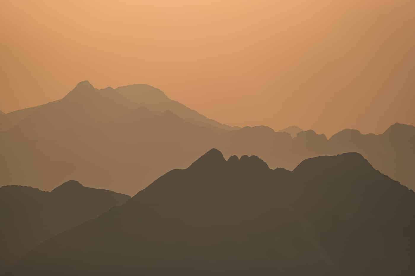 Coucher de soleil à venir au pic du Montcalm