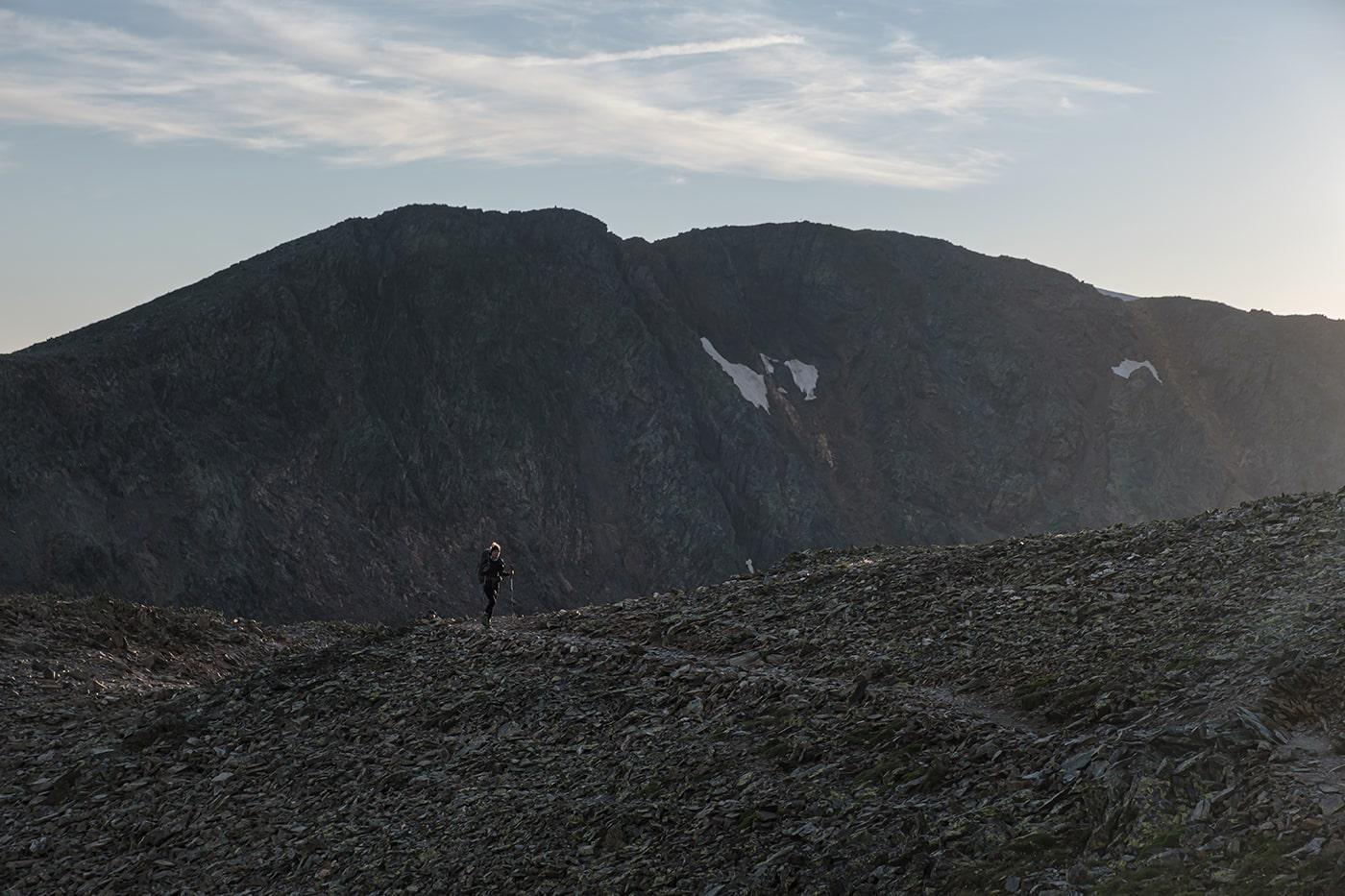 Pic du Montcalm vu depuis ele sentier vers la Pique d'Estats