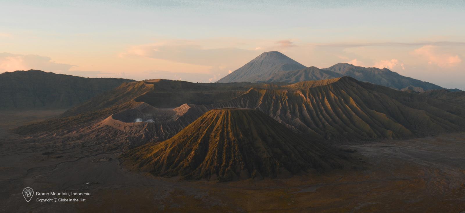 Bromo Mountain Indonesia Globe in the Hat