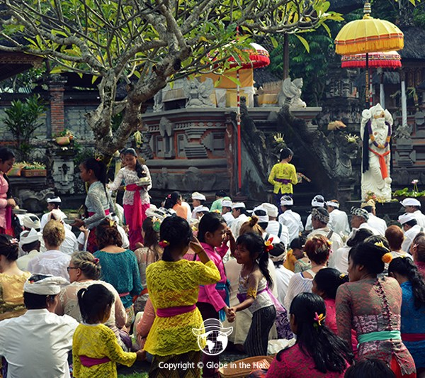 The Galungan Ceremonies in a Balinese temple