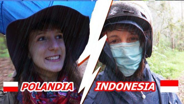 Hujan di Polandia dan Indonesia
