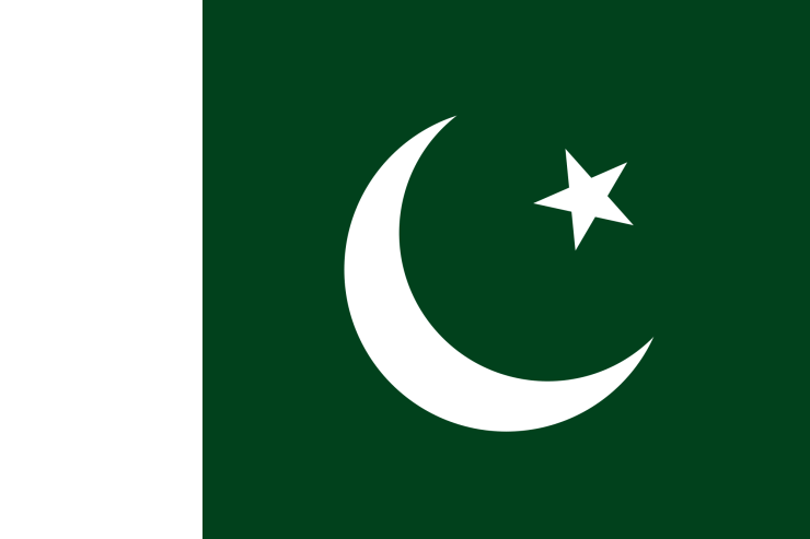 This is the official flag of the Islamic Republic of Pakistan.