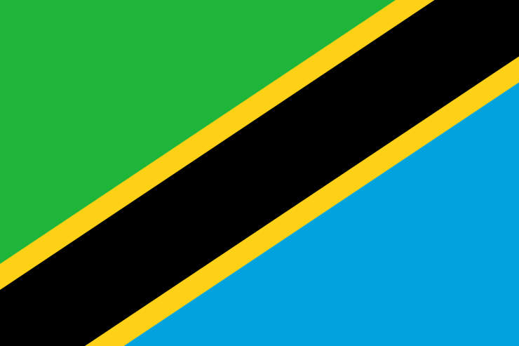 This is the official flag of Tanzania. (Image Credit: Wikimedia Commons)