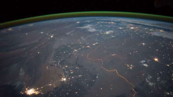 An image of the India-Pakistan border taken by an astronaut aboard the International Space Station on September 23, 2015. (Image Credit: NASA)