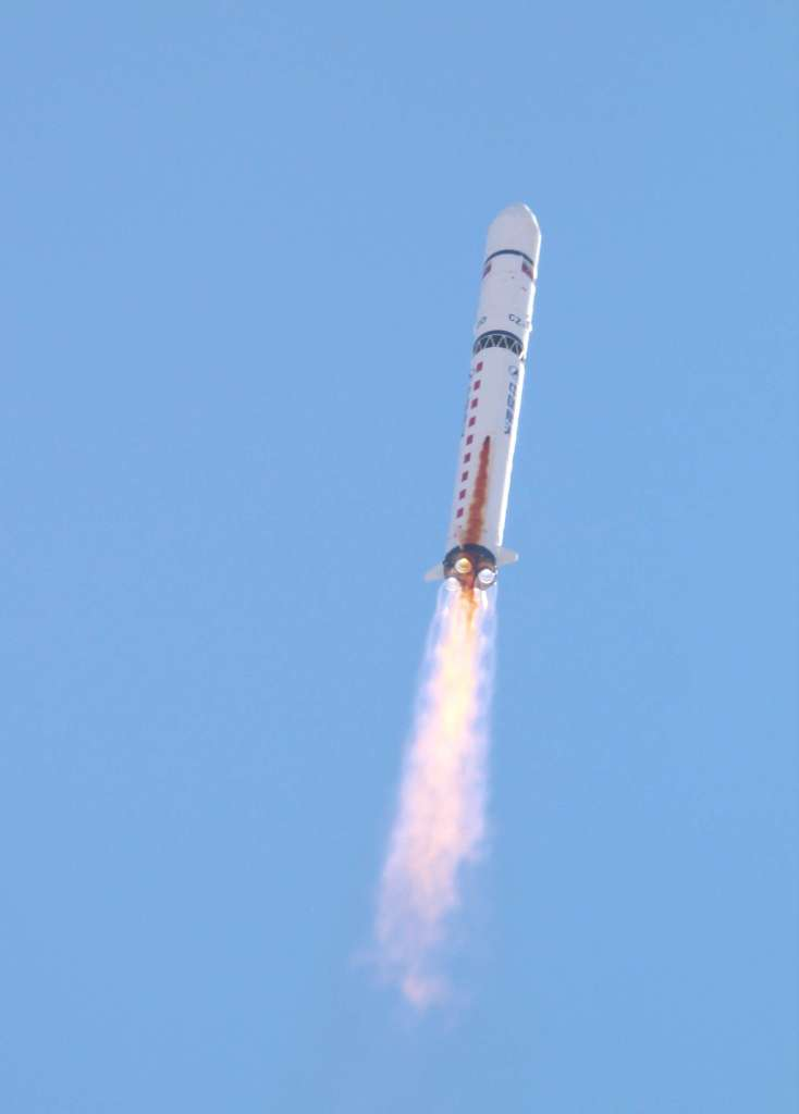 Venezuela's first Earth observation satellite is launched using the Long March 2D orbital carrier rocket at the Jiuquan Satellite Launch Center in China's Gansu Province on September 28, 2012. (Image Credit: Cristóbal Alvarado Minic via Flickr)