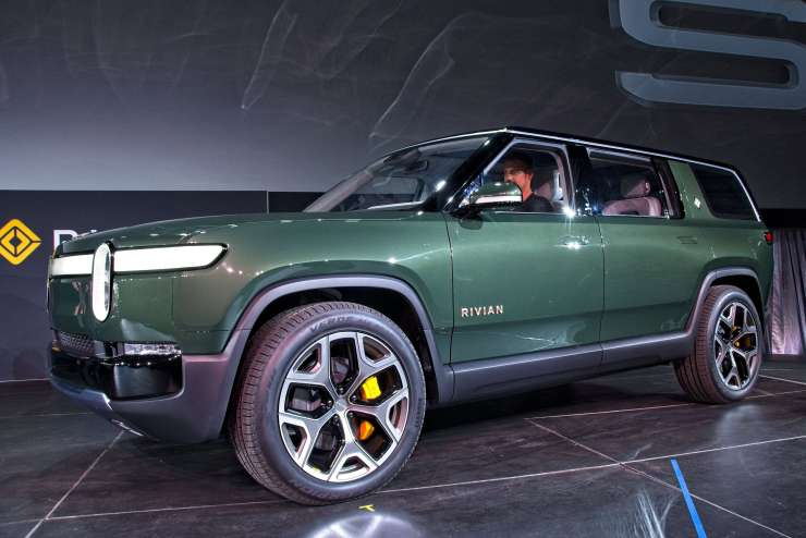 The Rivian R1S sports utility vehicle debuts at the 2018 Los Angeles Auto Show on November 27, 2018. (Image Credit: Richard Truesdell)