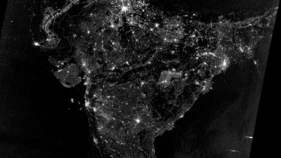 A view of India and the rest of South Asia on the night of Diwali in 2012 captured by the Visible Infrared Imaging Radiometer Suite on the Suomi NPP satellite. (Image Credit: NASA)