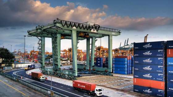 A container terminal at the Port of Singapore. (Image Credit: Port of Singapore)