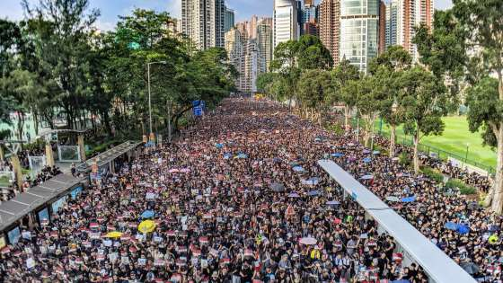 Protests in Hong Kong against an extradition bill on June 16, 2019. (Image Credit: Studio Incendo/Flickr)