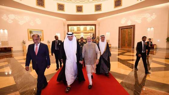Narendra Modi arrives in the United Arab Emirates on a state visit on August 23, 2019 (Image Credit: Prime Minister of India Office)
