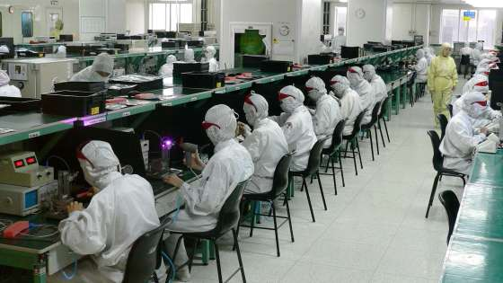 An electronics factory in Shenzhen, China. (Image Credit: Steve Jurvetson/Flickr)