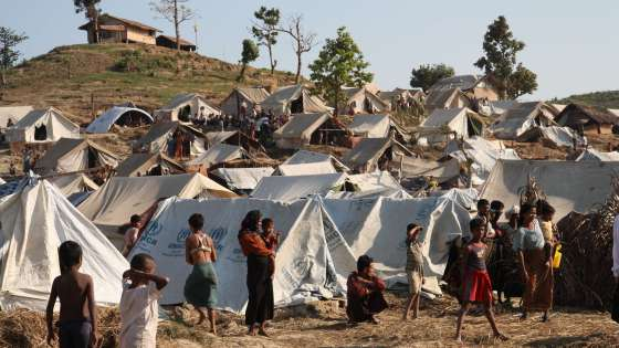 A camp for displaced Rohingya Muslims in western Myanmar. (Image Credit: United Kingdom Department for International Development)