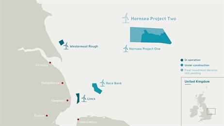 Hornsea Two Mapa