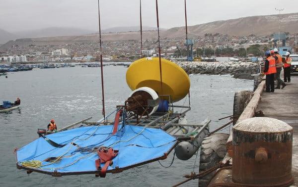 Peruwiańska instalacja pozyskująca energię fal morskich