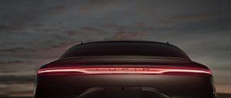 Lucid Air wizualizacja tyłu samochodu