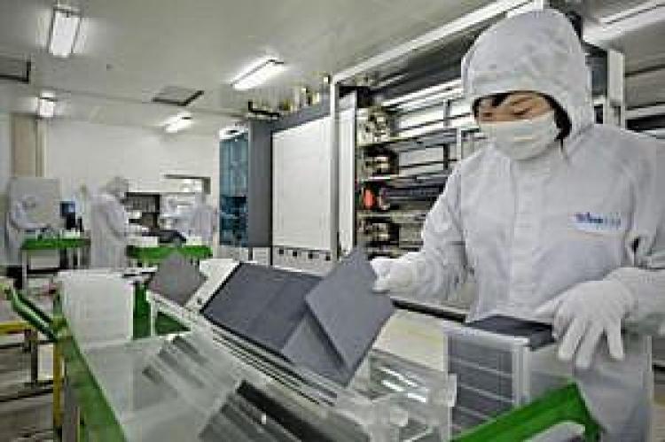produkcja paneli w Trina Solar