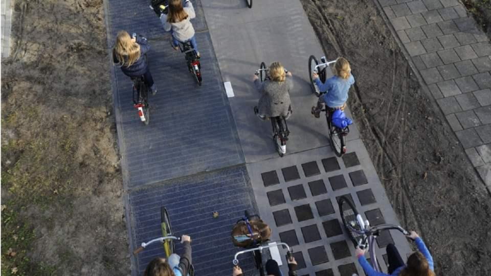 solarna ścieżka rowerowa w Holandii