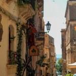 Sicile, Taormine, rue étroite