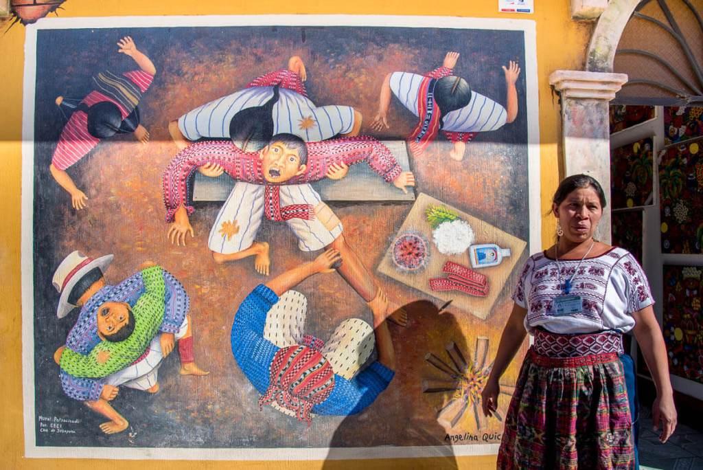 Guatemala-San Juan de la Laguna- Peintures et médecine traditionelles