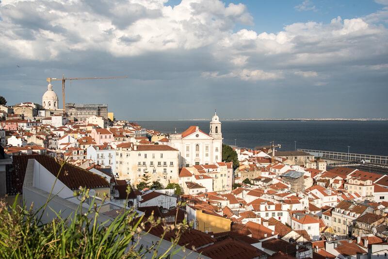 Lisbonne - miradouro de Santa lucia